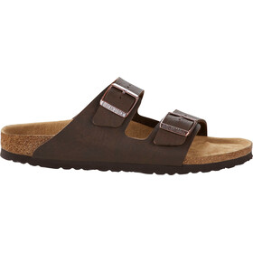 Birkenstock Arizona Sandals Birko-Flor Saddle Matt Vegan Regular Men, bruin